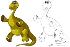 Contour animal pour le dinosaure de brachiosaurus Photos stock