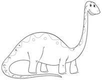 Contour animal pour le long cou de dinosaure Photographie stock