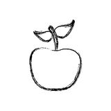 Contour apple fruit icon stock. Illustration desing Stock Photo