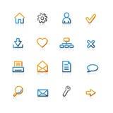 Contour basic icons. Color contour basic icons on the white background Stock Image