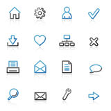 Contour basic web icons Stock Photos