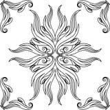 Contour bloemen vectorelementen Royalty-vrije Stock Afbeeldingen