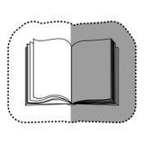 Contour book open icon Stock Photos