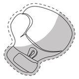 Contour boxing glove icon design Stock Photos
