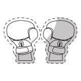 Contour boxing gloves icon design Stock Image
