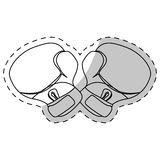 Contour boxing gloves icon design Royalty Free Stock Photo