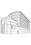 Contour Building Stock Photography