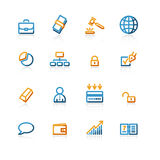 Contour business icons Stock Images