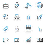 Contour business web icons Royalty Free Stock Photography
