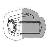 Contour camcorder icon image. Illustraction design Stock Image
