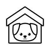 contour canin d'animal familier de maison de chien jeune illustration libre de droits