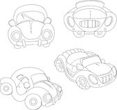 Contour cartoon car Royalty Free Stock Photo