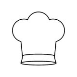 Contour of chefs hat small. Vector illustration Stock Photography