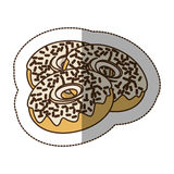 Contour chocolate donuts icon. Illustraction design image Stock Image