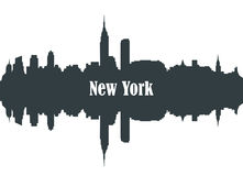 Contour of the city of New York Royalty Free Stock Images