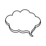 Contour cloud chat bubble icon Stock Images