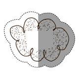 Contour clound network service icon Royalty Free Stock Photo