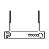 Contour color monochrome wireless router. Vector illustration Royalty Free Stock Photos