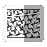 contour computer keyboard with recycle symbol icon Stock Photography