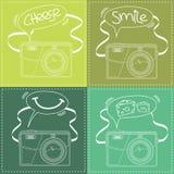 Contour d'appareil photo numérique avec la bulle de la parole Photographie stock libre de droits