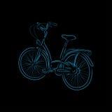 Contour de bicyclette, illustration de vecteur Photos stock