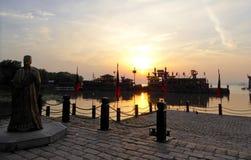 Contour de camp de l'eau de royaume de Wu photos stock
