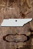 Contour de carte d'état du Tennessee d'affiche photographie stock libre de droits