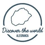Contour de carte d'Alegranza Le vintage découvrent le monde Photo libre de droits
