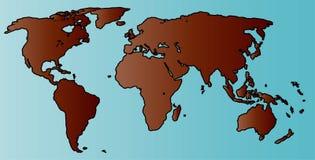 Contour de carte du monde Photographie stock