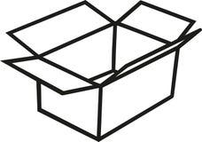 Contour de carton de boîte illustration de vecteur