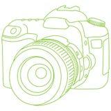 Contour de DSLR photographie stock libre de droits