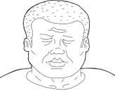 Contour de l'homme avec des yeux fermés Image stock