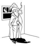 Contour de magicien illustration de vecteur