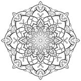 Contour de Mandala Flower illustration de vecteur
