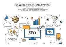 Contour de technologie d'optimisation de moteur de recherche Images stock