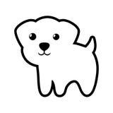 Contour debout canin de chien jeune illustration de vecteur