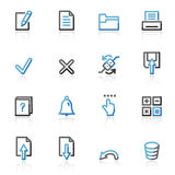 Contour document web icons Royalty Free Stock Photos