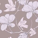 Contour drawing flower. This is illustration of flower pattern Royalty Free Stock Image