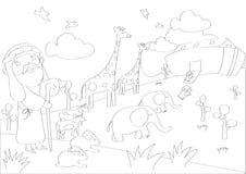 Contour drawings Stock Photo