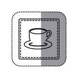 contour emblem cup with plate icon Stock Photography