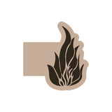 Contour emblem fire icon. Illustraction design image Royalty Free Stock Images