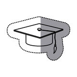 Contour emblem graduation hat icon. Illustraction design image Stock Images
