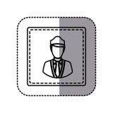 Contour emblem guard person icon. Illustraction design image Stock Image