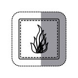 Contour emblem sticker fire icon. Illustraction design image Stock Images