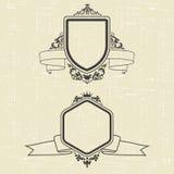 Contour emblems Royalty Free Stock Photos