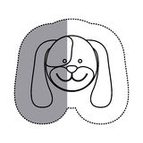Contour face dog icon. Illustration design image Royalty Free Stock Images