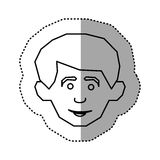 contour face happy man icon Royalty Free Stock Image