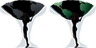 Contour femelle d'atlas Images libres de droits