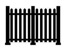 Contour of fence isolated on white background. 3d illustration Stock Photo