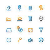 Contour file server icon Stock Photography